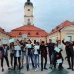 Pożegnanie z grupą uczniów z Włoch