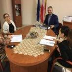 Spotkania w szkołach z przedstawicielem partnera z Wilna